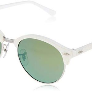 14b0147f3f8 Ray-Ban Accessories - Ray-Ban Clubmaster Clubround Green Mirror Sunglass